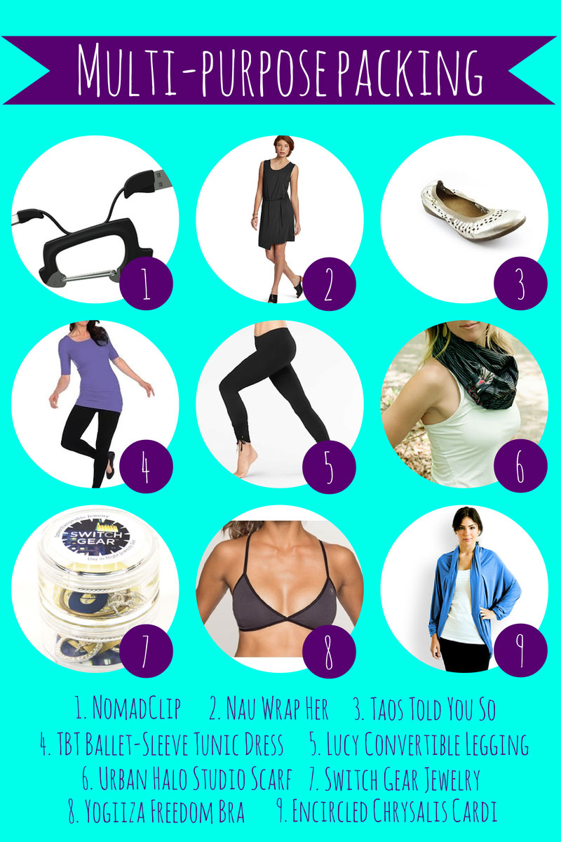 multi-purpose packing list for active women