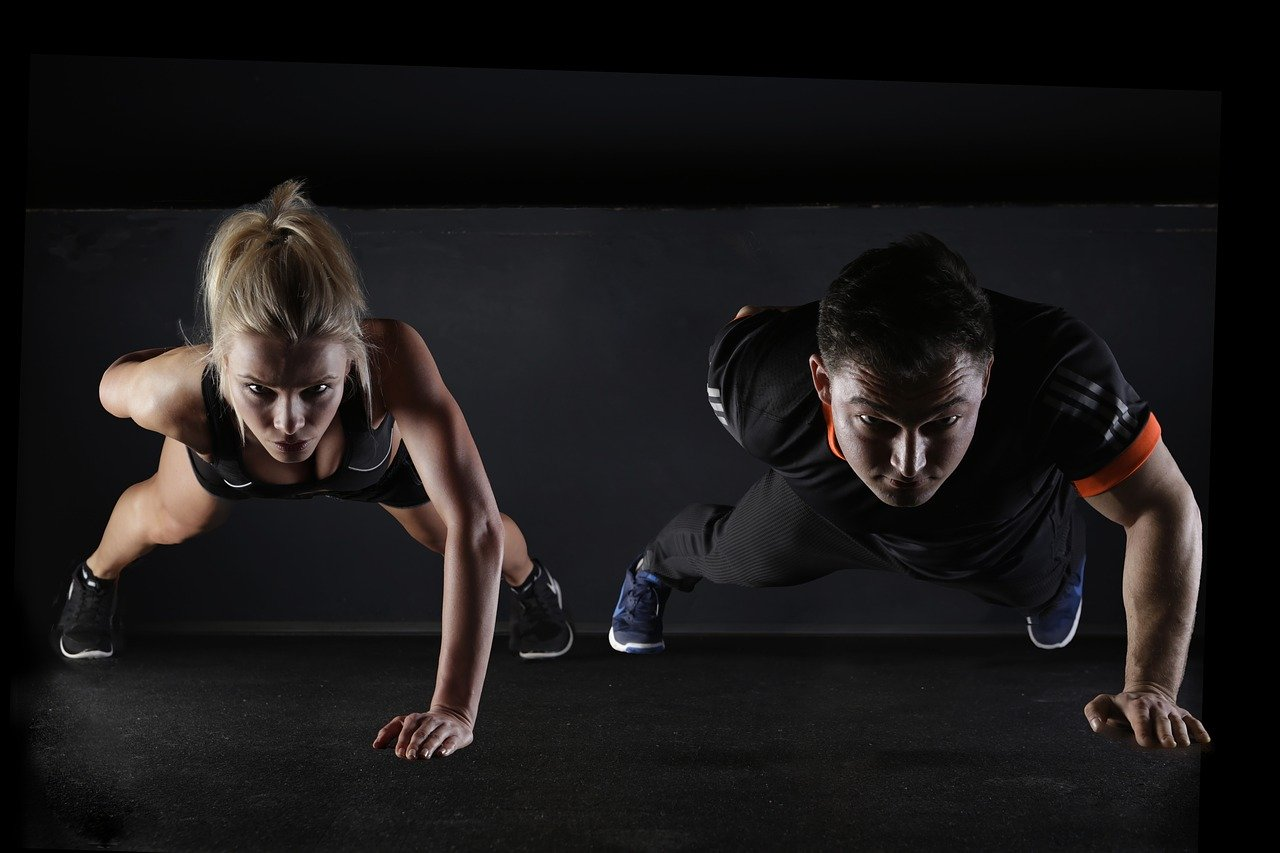 a couple does a hiit workout