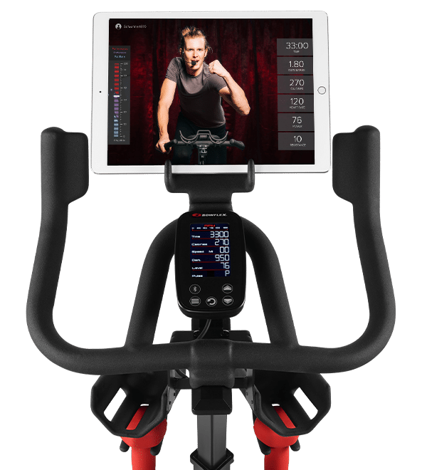 streaming a live workout on a tablet
